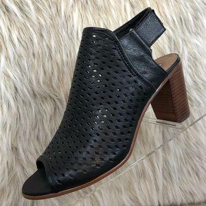 Steve Madden Nimbble black open toe heeled bootie